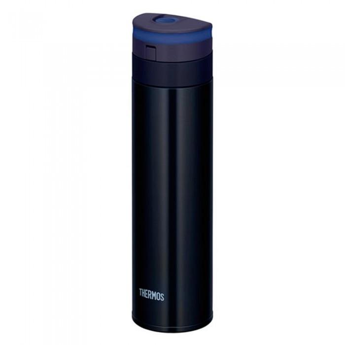 Термос Thermos JNS-450 450 млJNS-450 450 млТермос Thermos JNS-450 выполнен из нержавеющей стали с акриловым покрытием и обладает массой преимуществ, одно из которых - малый (всего 190 грамм) вес. Прежде всего его достоинства будут оценены тем, кто экономит свои силы и место в рюкзаке.  Герметичная крышка из ударопрочного термостойкого полипропилена снабжена удобным наливным устройством, позволяющем задействовать его всего в одно нажатие. Ударопрочная колба (0,45 литра) выполнена из нержавеющей стали, устойчивой к окислению. Кожух с вакуумной прослойкой рассчитан на 6 часов сохранения внутренней температуры, даже при значительных внешних воздействиях.<br>