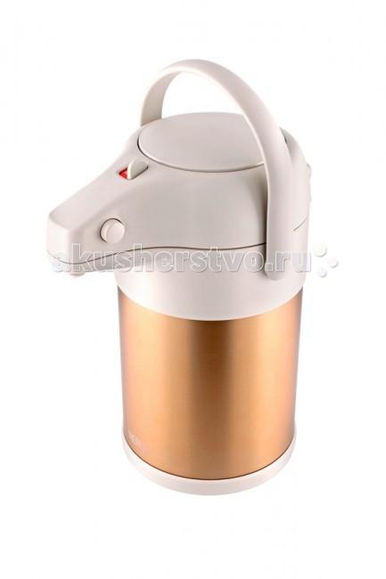 Термос Thermos TAH-3000 SBK/MGD 3 лTAH-3000 SBK/MGD 3 лThermos Термос TAH-3000 SBK/MGD 3 л с пневмонасосом.  Особенности: Вращающееся основание корпуса позволяет легко поворачивать термос на 360 градусов. Мощный ручной пневмонасос быстро наполняет чашки кипятком.  Сохраняет тепло 24 часа Сохраняет холод 24 часа<br>
