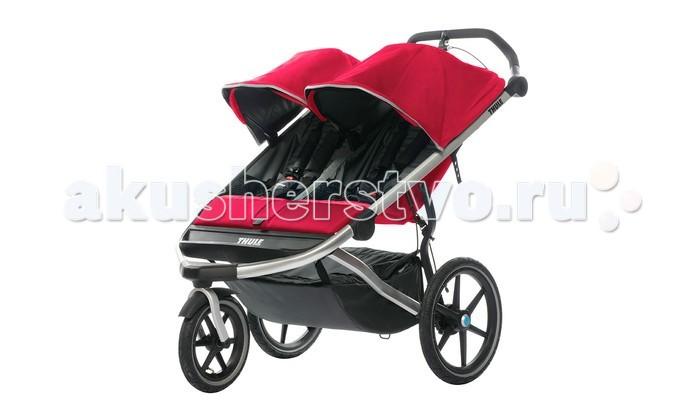 Коляски для двойни и погодок Thule Прогулочная коляска для двойни Urban Glide 2 коляска thule urban glide2темно серый