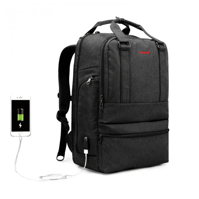 Tigernu Повседневный рюкзак с защитой от кражи и внешний USB T-B3243