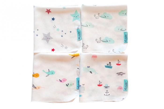 Текстильные салфетки TinyTwinkle Комплект платочков 33х35 см 4 шт.