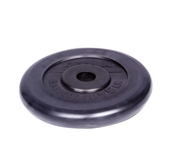 Спортивный инвентарь Titan Диск обрезиненный d 26 мм 25 кг недорого