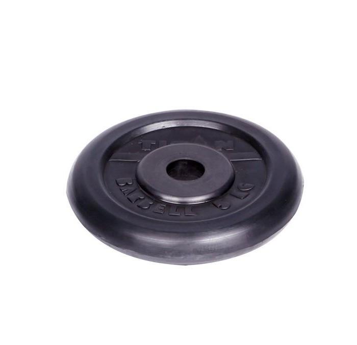 Спортивный инвентарь Titan Диск обрезиненный d 26 мм 5 кг