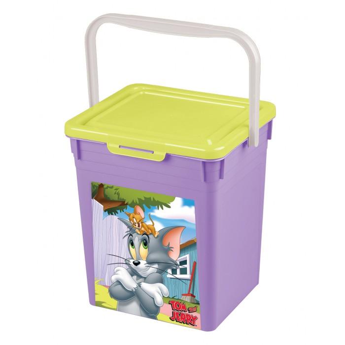 Ящики для игрушек TomJerry Контейнер универсальный с аппликацией 235Х210Х252 мм ящики для игрушек tomjerry ящик универсальный с аппликацией 33 5x24x15 5 см