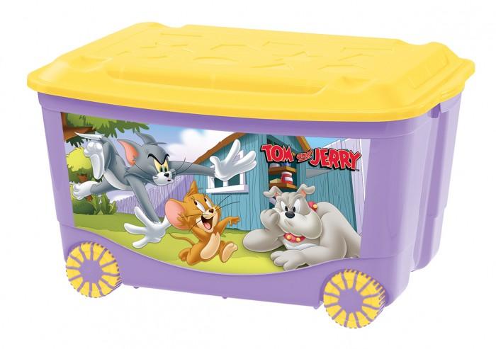 Ящики для игрушек TomJerry Ящик для игрушек на колесах с аппликацией 580Х390Х335 мм ящики для игрушек tomjerry ящик универсальный с аппликацией 33 5x24x15 5 см