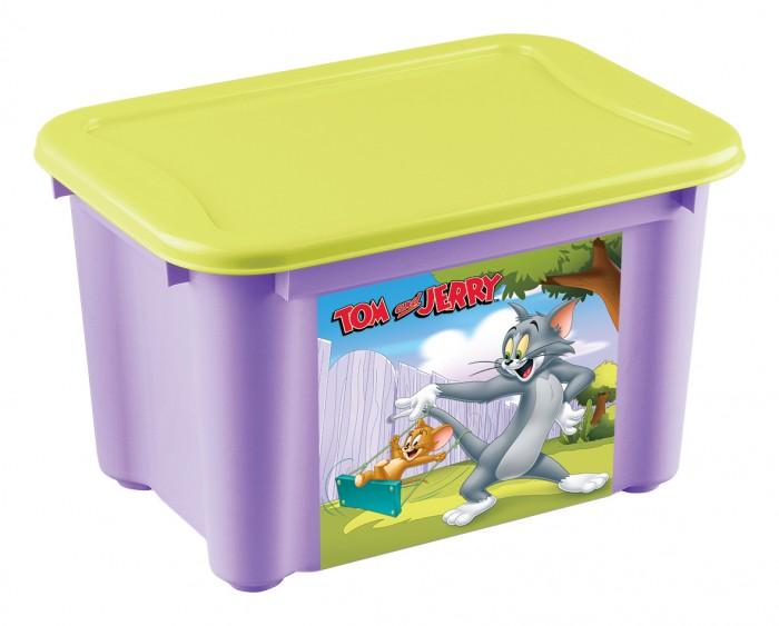 Ящики для игрушек TomJerry Ящик универсальный с аппликацией 22 л 389Х275Х286 мм ящики для игрушек tomjerry ящик универсальный с аппликацией 33 5x24x15 5 см