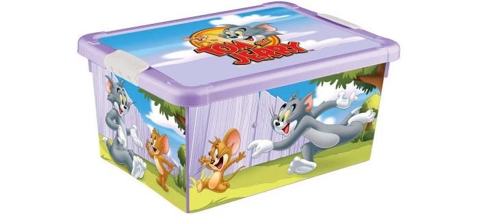 Ящики для игрушек TomJerry Ящик универсальный с аппликацией 33.5x24x15.5 см ящики для игрушек tomjerry ящик универсальный с аппликацией 33 5x24x15 5 см