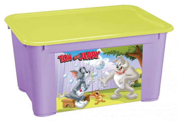 Ящики для игрушек TomJerry Ящик универсальный с аппликацией 555Х390Х290 мм ящики для игрушек tomjerry ящик универсальный с аппликацией 33 5x24x15 5 см