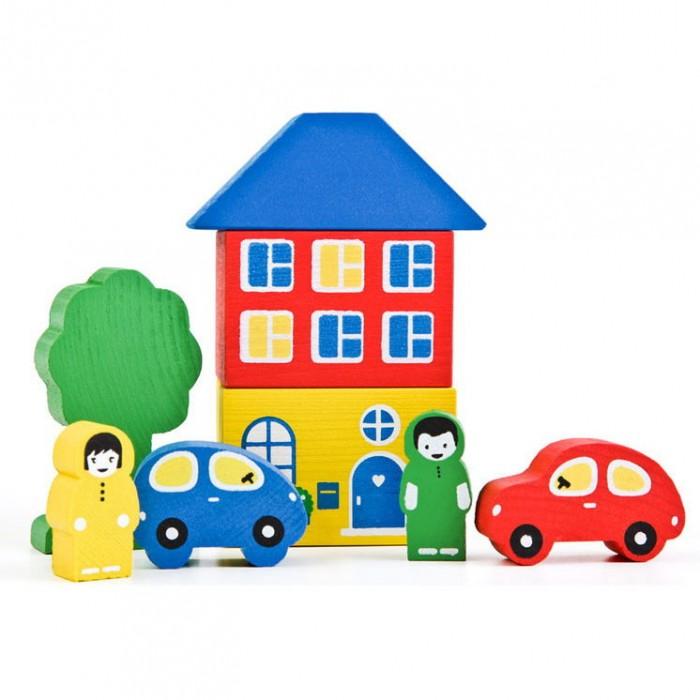 Деревянные игрушки Томик Конструктор Цветной городок 8 деталей деревянные игрушки томик конструктор цветной городок синий 14 деталей