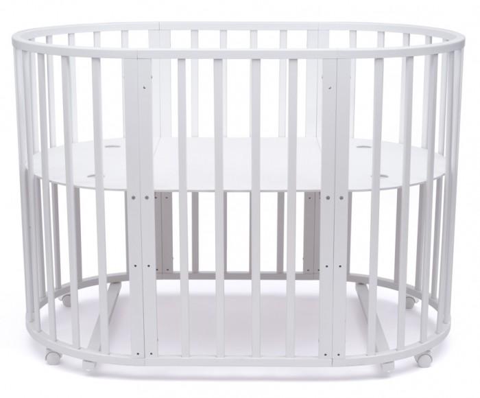 Купить Кроватки-трансформеры, Кроватка-трансформер Tomix Malta овальная 8 в 1