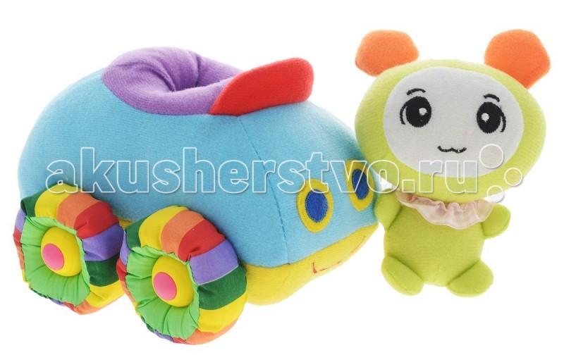 Мягкие игрушки Tongde машинка Радужный транспорт с фигуркой