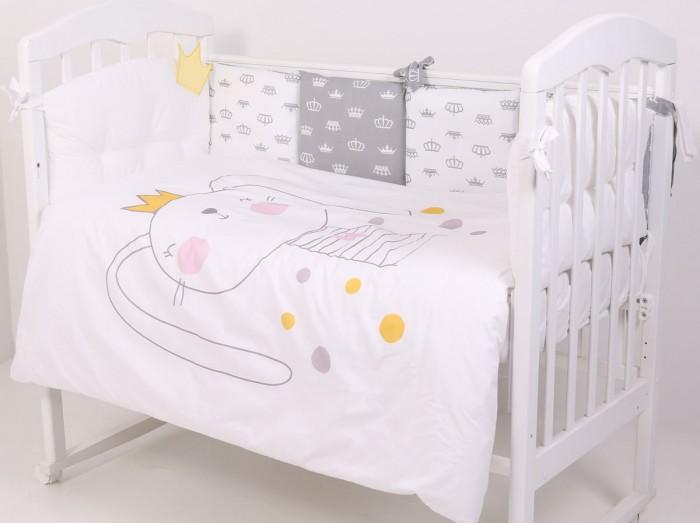 Комплект в кроватку Топотушки Зайка с короной (6 предметов) фото