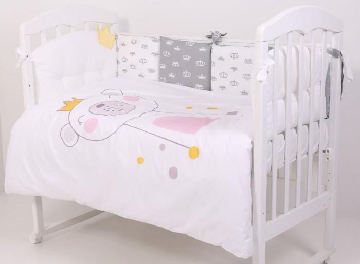 Комплект в кроватку Топотушки Мишка с короной (6 предметов) фото