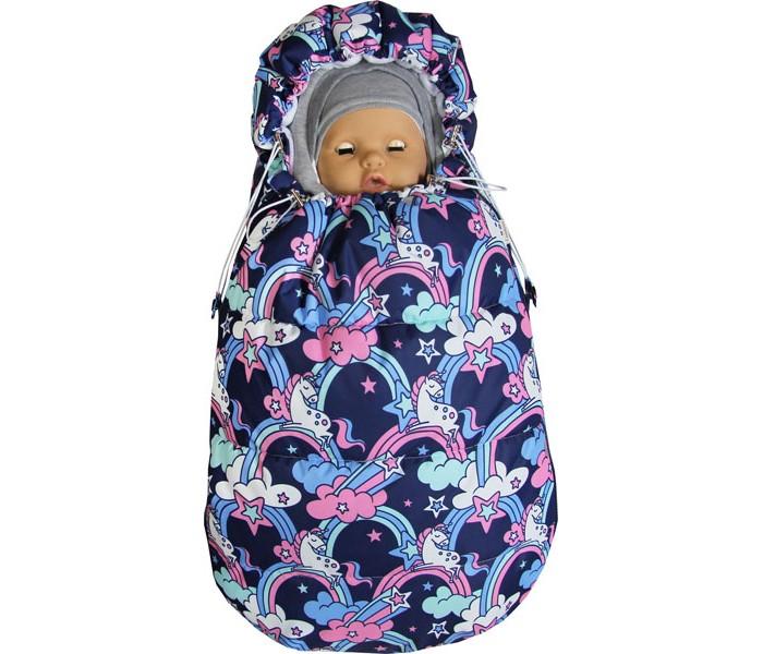 Топотушки Демисезонный конверт для новорожденного Бемби Единороги