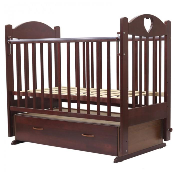 Детская кроватка Топотушки Ева-6 с сердечком (поперечный маятник)