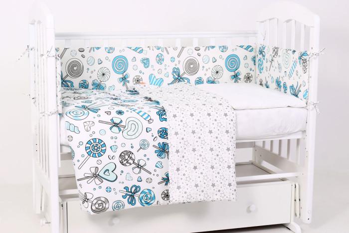 комплекты в кроватку bytwinz слоники 6 предметов Комплекты в кроватку Топотушки Фантазия Карамель (6 предметов)