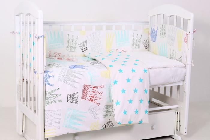 комплекты в кроватку bytwinz слоники 6 предметов Комплекты в кроватку Топотушки Фантазия Короны (6 предметов)