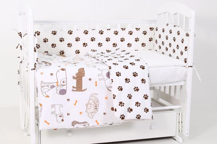 комплекты в кроватку bytwinz слоники 6 предметов Комплекты в кроватку Топотушки Фантазия Лапки (6 предметов)