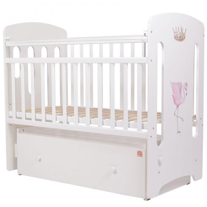 Детская кроватка Топотушки Фламинго маятник поперечный