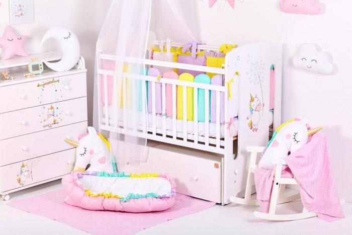 Детские кроватки Топотушки Каролина Единороги