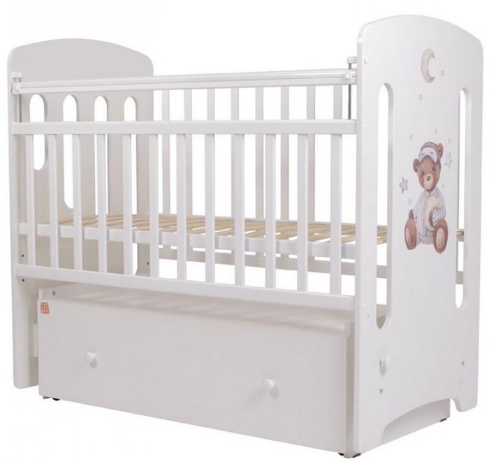 Купить Детские кроватки, Детская кроватка Топотушки Каролина Пижамная вечеринка маятник поперечный