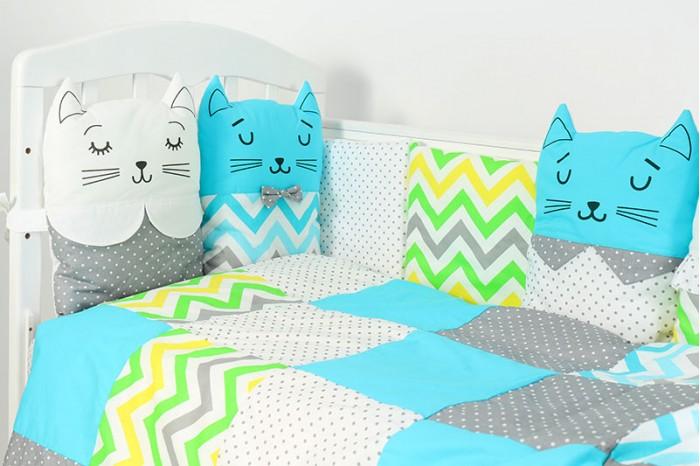 Комплект в кроватку Топотушки Китти зигзаг (6 предметов)