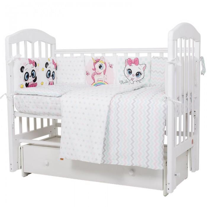 Купить Комплекты в кроватку, Комплект в кроватку Топотушки Девочки (6 предметов)