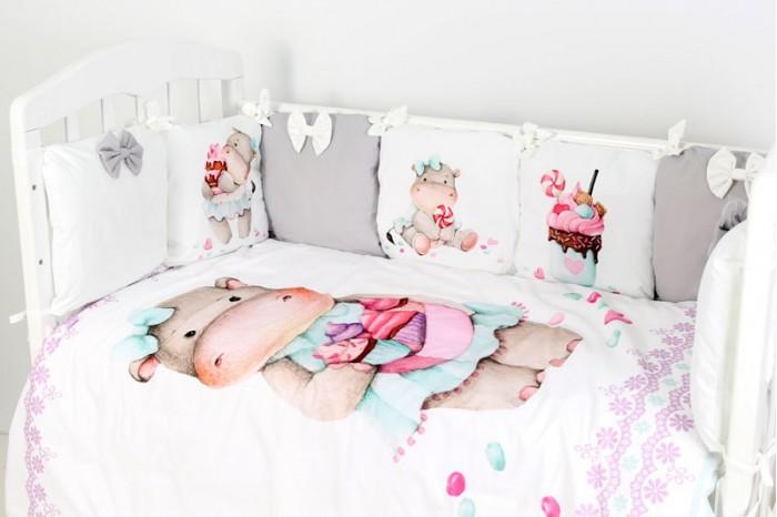 Купить Комплекты в кроватку, Комплект в кроватку Топотушки Глория (6 предметов)