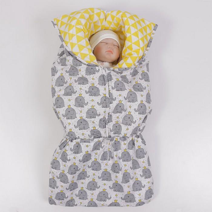 Купить Конверты для новорожденных, Топотушки Конверт-трансформер зимний Феникс Слоник с короной