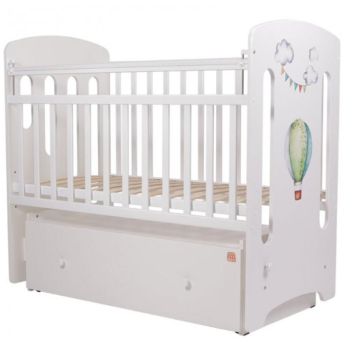 Детская кроватка Топотушки Воздушные Шары маятник поперечный