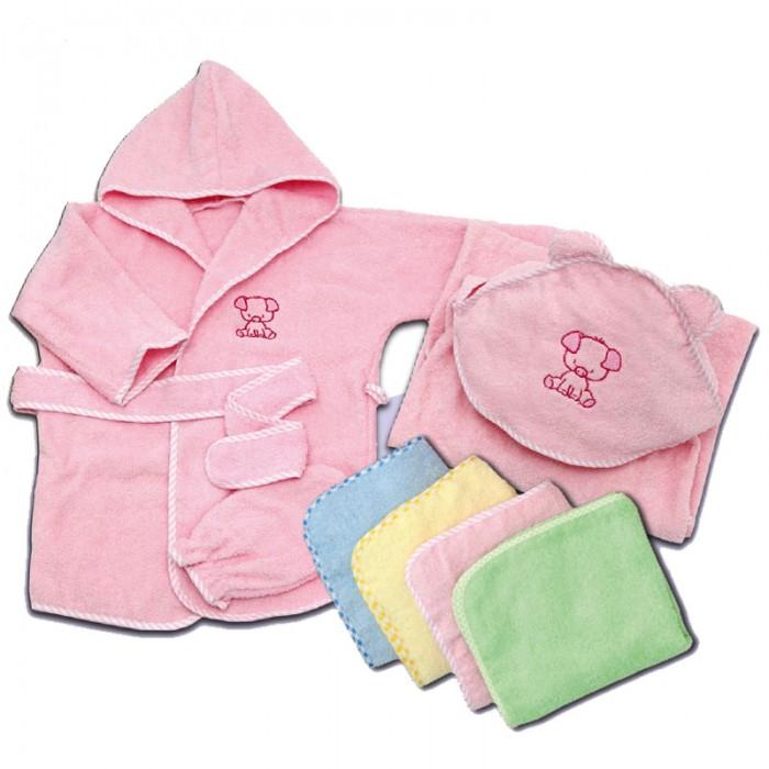 Полотенца Топотушки М-4 Комплект (уголок, халат, полотенце, рукавичка) махра, Полотенца - артикул:483766