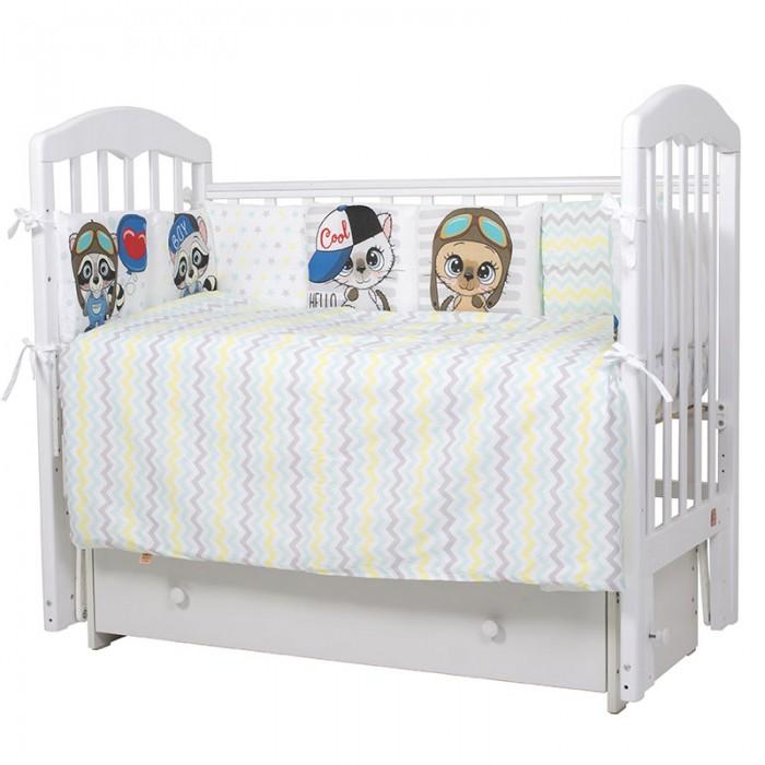 Купить Комплекты в кроватку, Комплект в кроватку Топотушки Мальчики (6 предметов)