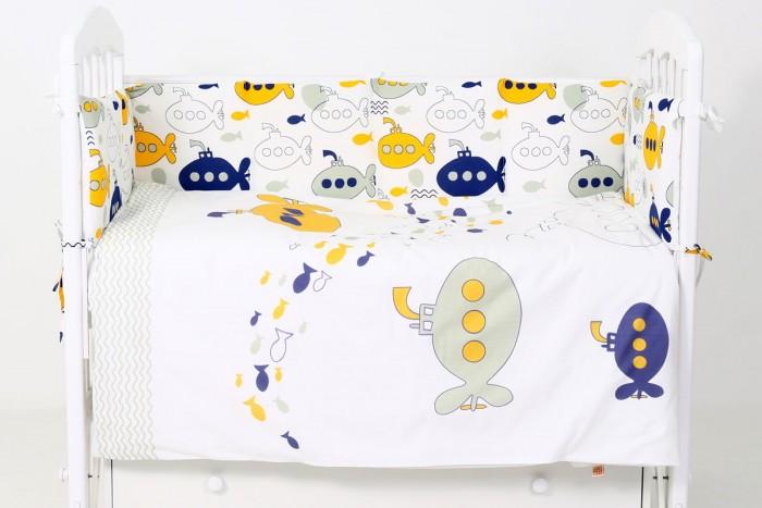 Купить Комплекты в кроватку, Комплект в кроватку Топотушки Морской бой (6 предметов)