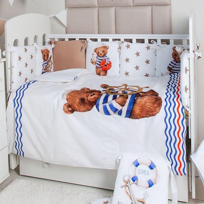Купить Комплекты в кроватку, Комплект в кроватку Топотушки Морячок (6 предметов)
