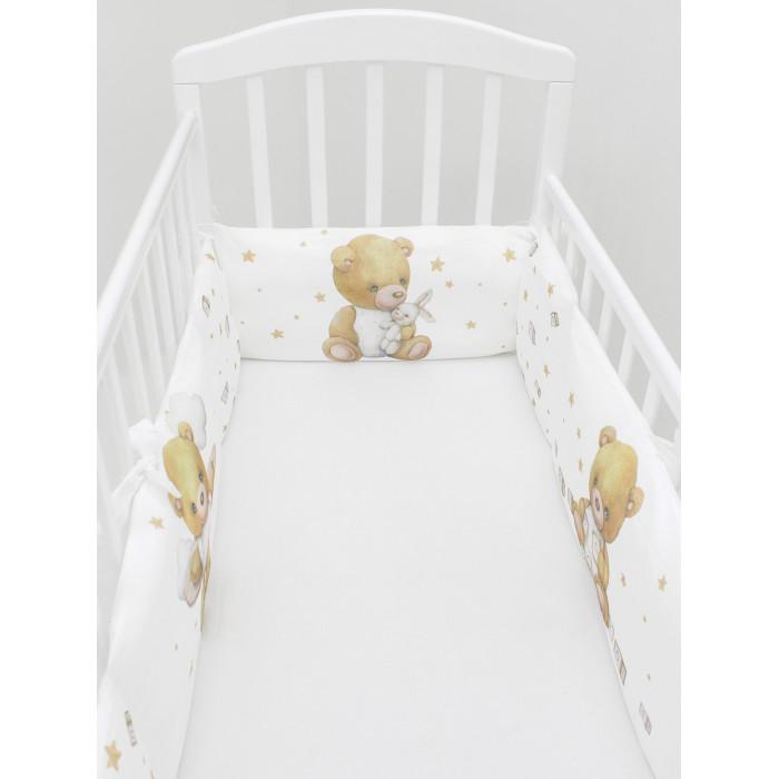 Бортик в кроватку AmaroBaby на молнии Трасса (4 подушки)