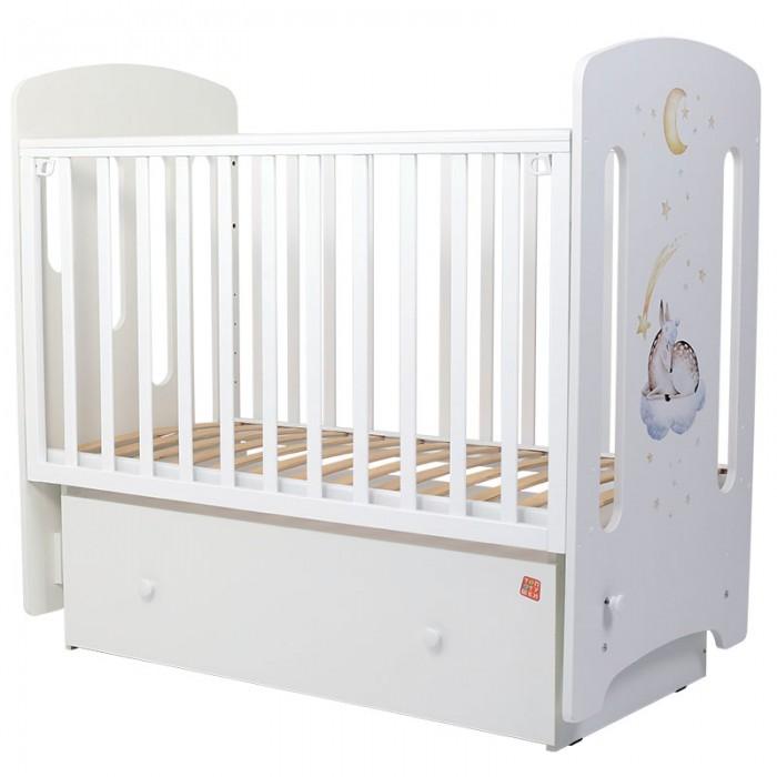 Купить Детские кроватки, Детская кроватка Топотушки Олененок МДФ маятник поперечный