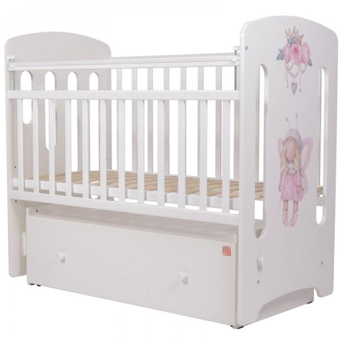 Детская кроватка Топотушки Принцесса Фей маятник поперечный 53
