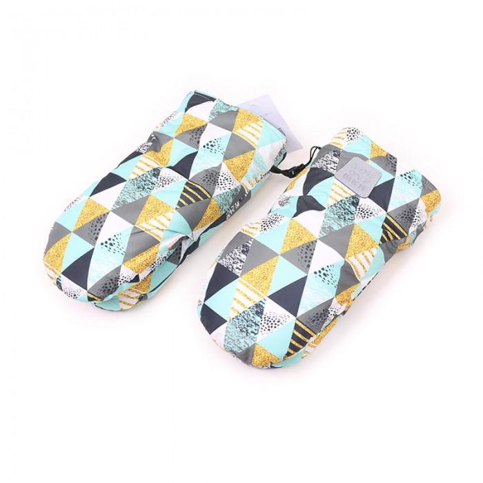 Муфты для рук Топотушки Рукавички на коляску Нильс с липучками Треугольники