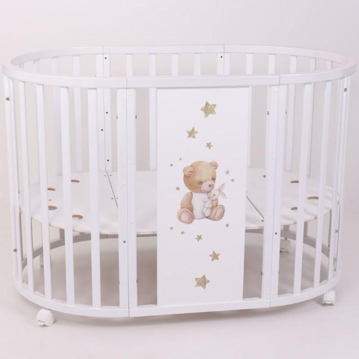 Детская кроватка Топотушки Селена овальная принт Лучик