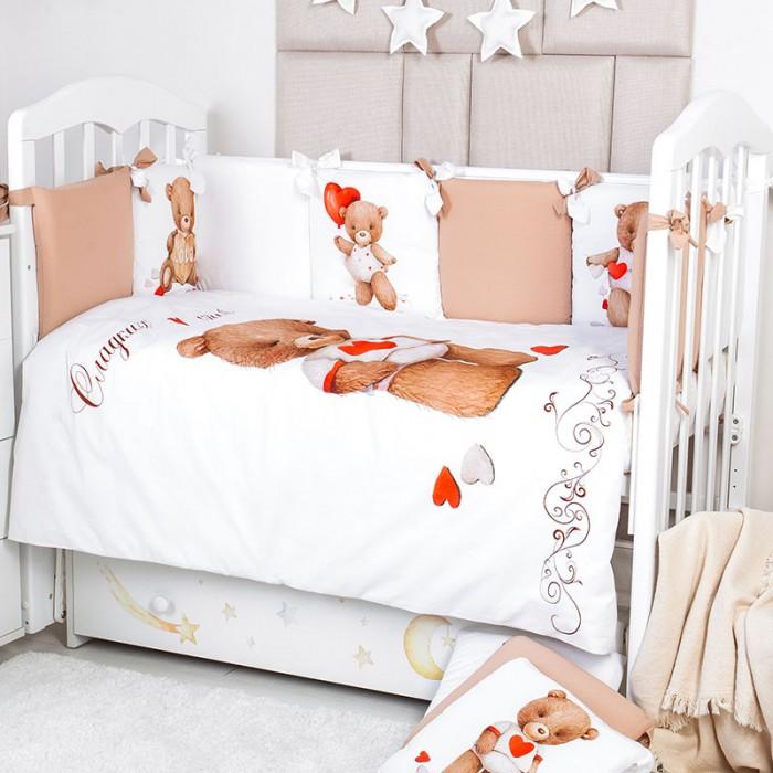 Купить Комплекты в кроватку, Комплект в кроватку Топотушки Валентинка (6 предметов)