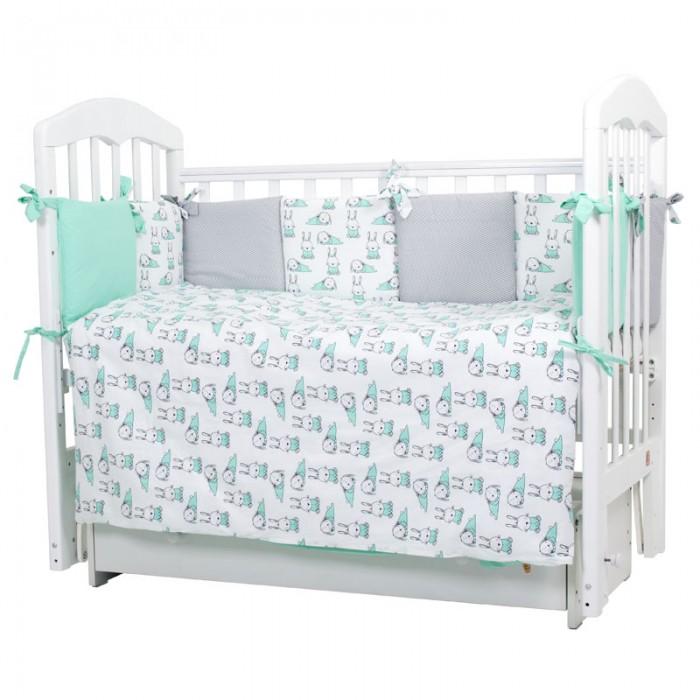 Купить Комплекты в кроватку, Комплект в кроватку Топотушки Зайчики (6 предметов)