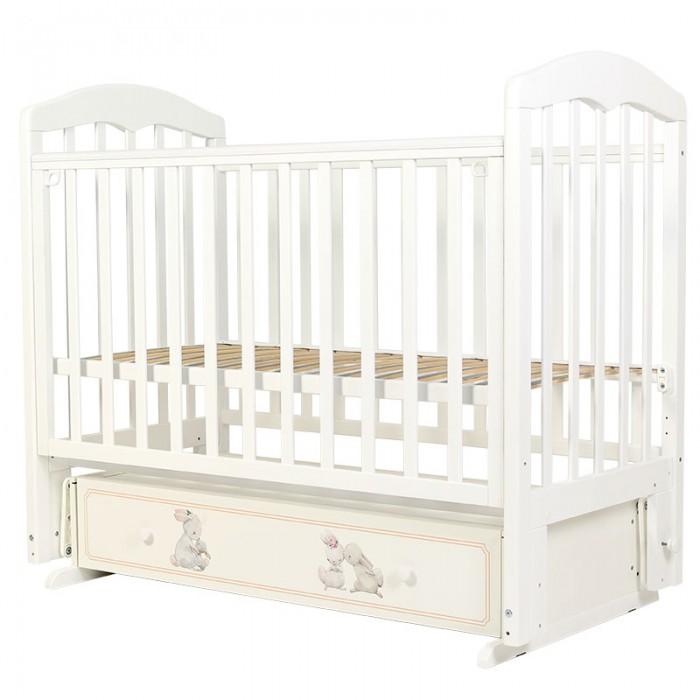 Купить Детские кроватки, Детская кроватка Топотушки Зайки-Акварель-7 маятник поперечный
