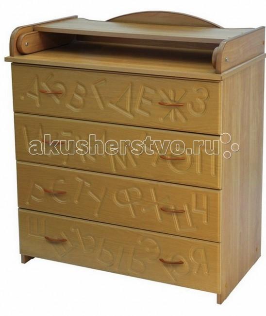 Комод Топотушки КП-2 Алфавит пеленальный (4 ящика)