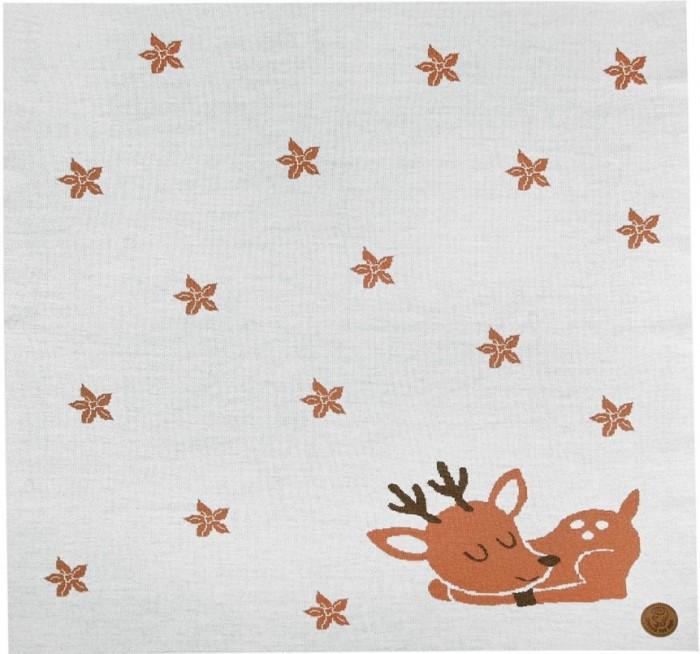 Пледы Toucan for Kids вязаный с шерстью мериноса Олененок 90х90 см