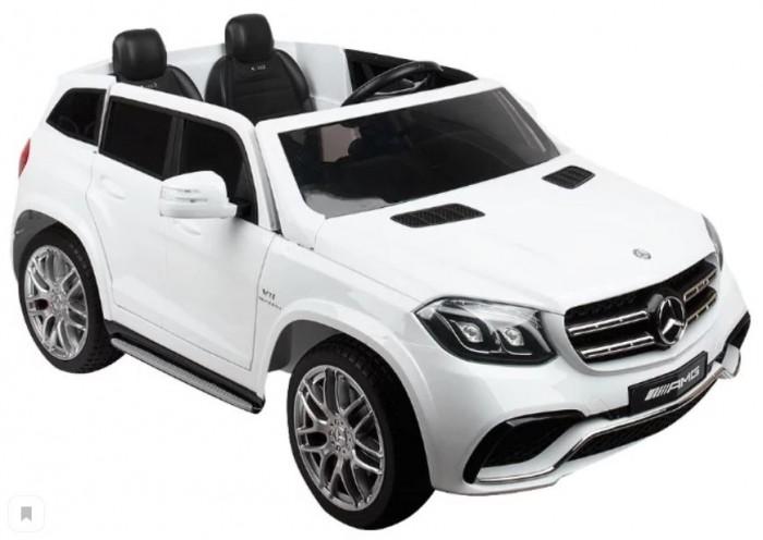 Электромобиль Toyland Mercedes Benz GLS63 AMGMercedes Benz GLS63 AMGЭлектромобиль Toyland Mercedes Benz GLS63 AMG - это детское транспортное средство развивает у ребенка внимание и наблюдательность, а также улучшается реакция и координация движения. А самое главное - ребёнок в игровой форме знакомится с правила поведения на дорогах как со стороны водителя, так и со стороны пешехода. У малыша-водителя развивается внимательность и концентрация. При вождении, пусть и игрушечном, нужно следить за множеством параметров. Это своего рода игра-обучалка, но в реальном мире.  Ребенок подрастет и для него станет нормой иметь автомобиль. Без этого никуда в современном мире. Вы научите его ухаживать за своим авто, водить, следовать правилам на дороге. Эта игра напоминает игры-подготовки к взрослой жизни на ряду с игрой «дочки-матери».  Детский электромобиль Mercedes Benz GLS63 - это детский электромобиль Mercedes-Benz GLS63 AMG по лицензии известного автоконцерна Mercedes-Benz. Двухскоростной внедорожник с пультом радиоуправления 2.4G для двух детей от 2 до 6 лет.  Особенности: 2 отдельных сиденья рулевое колесо смещено в сторону водителя мягкие резиновые колеса сиденье из перфорированной черной экокожи встроенная магнитола с FM радио нового образца USB и MP3 вход встроенный считыватель флеш карт (TF) пульт управления 2.4G ремни безопасности сделают это катание максимально безопасным электромобиль оборудован амортизаторами на колесах, что позволить плавно преодолевать любые неровности дорог, можно подниматься по горным дорожкам, ездить по гравию и камням, не бояться ям и кочек. Автомобиль будет вести себя как настоящая папина машина приводится в движение нажатием ногой на педаль – все как в настоящем авто. едет вперед - назад, 2 скорости хромированные диски, хромированный логотип на капоте оборудовано кнопкой Низкая скорость/Высокая скорость, которая используется для изменения скорости движения транспортного средства на 3 км / ч и 7 км / ч регулирование громкости осуществляется 