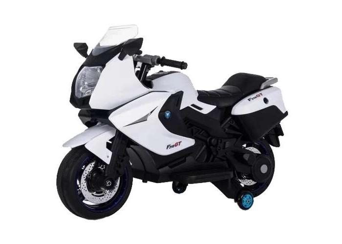 Электромобиль Toyland Moto XMX 316Moto XMX 316Toyland Moto XMX 316 - этот стильный и модный мотоцикл сможет стать верным другом вашего ребенка. Машина максимально приближена к реальной не только благодаря внешнему сходству, но и непревзойденному качеству. Все элементы тщательно подобраны и проработаны, кроме того, большое внимание было уделено внешнему покрытию.  Особенности: полностью резиновые колеса EVA, максимальная нагрузка 35 кг аккумулятор 12V/7Ah, два двигателя: 2x35W, привод на заднее колесо максимальная скорость 7 км/ч, плавный набор скорости вперед ручкой газа на руле, одна скорость движения назад заводится с ключа  нет пульта ДУ кожаное сиденье удобный руль,  музыкальные эффекты на корпусе (кнопка клаксона и проигрывания мелодий) разъем для подключения MP3, вход для карты SD, вход для USB светодиодные огни фар и задних сигналов открываются отсеки по бокам мотоцикла (место для хранения) Объем: 0,21 м3 В комплекте:  аккумулятор  зарядное устройство<br>