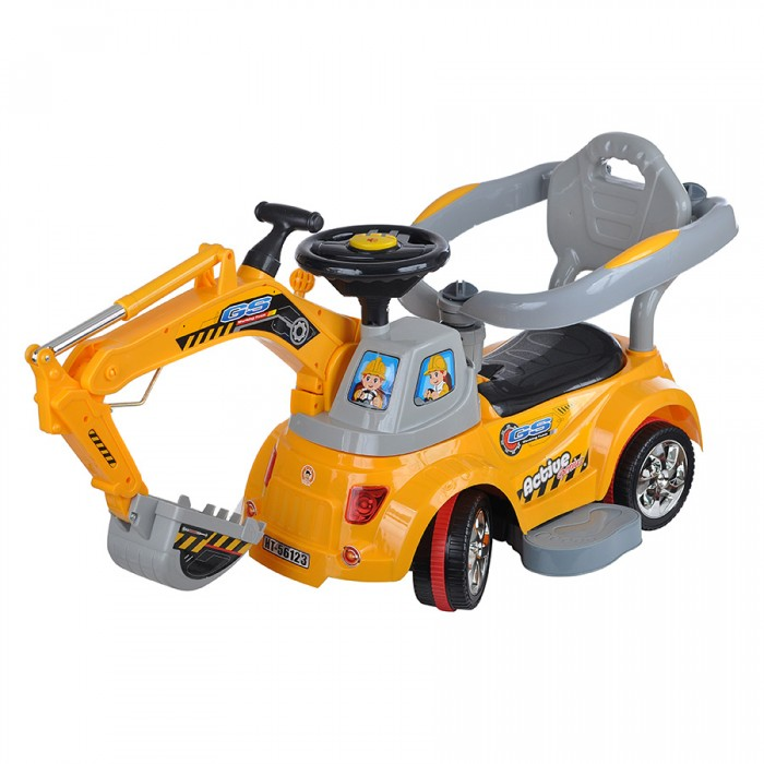 Каталка Toysmax электрическая Экскаватор с пультом