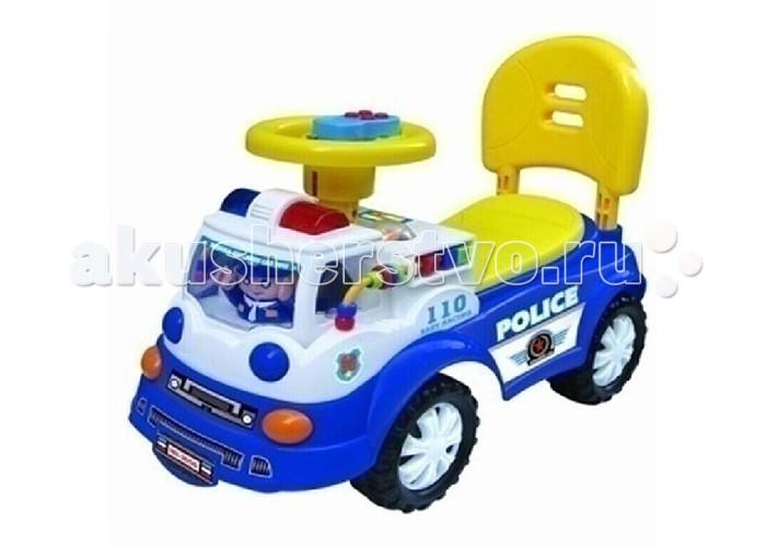 Каталка Toysmax PolicePoliceКаталка Toysmax Police оснащена специальными музыкальными и световыми эффектами, стилизована под полицейский автомобиль.   Особенности: машина-каталка имеет устойчивую конструкцию высокая спинка, за которую малыш может держаться при ходьбе вместительный багажник под сиденьем свето-музыкальные эффекты колеса с поворотом на 90 градусов движение вперед и назад размер: 61 х 26 х 42 см<br>