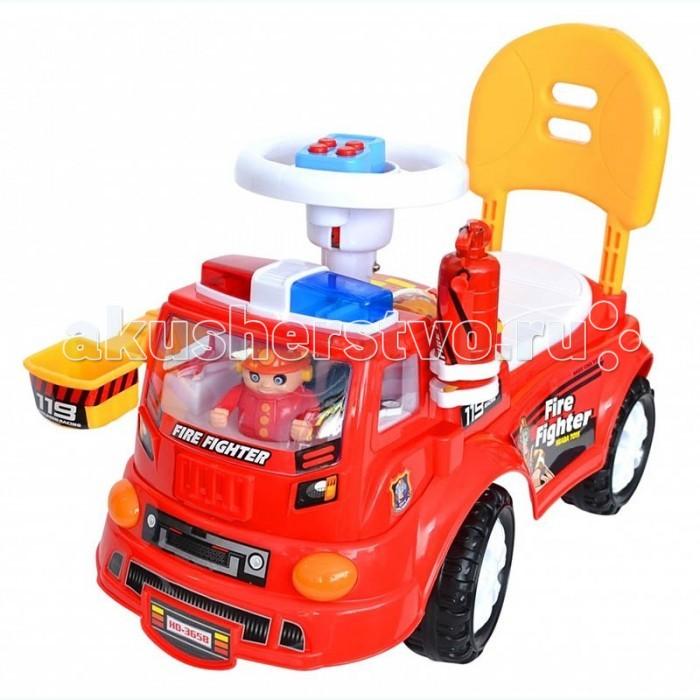 Каталка Toysmax ПожарнаяПожарнаяКаталка Toysmax Пожарная многофункциональная игрушка, которая позволит ребенку развить координацию движений и провести время за интересной игрой, а также почувствовать себя настоящим водителем.  Особенности: яркая пожарная машина световые эффекты удобное сиденье высокая спинка с закругленными краями огнетушитель 4 колеса музыкальный телефон на руле пожарный в кабине.<br>