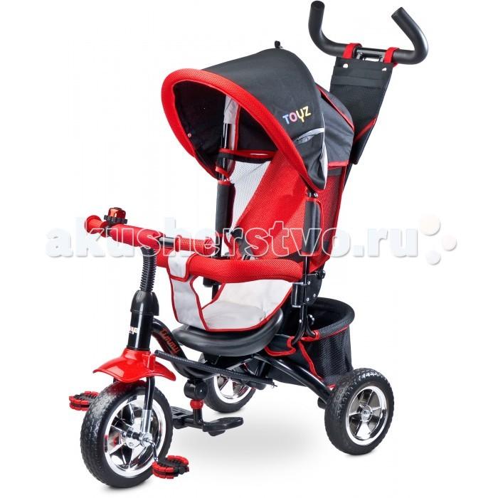 Велосипед трехколесный Toyz TimmyTimmyВелосипед трехколесный Toyz Timmy  Трехколесный велосипед Timmy имеет модульную конструкцию, что позволяет постепенный демонтаж отдельных компонентов, с развитием навыков ребенка.  С ручкой и подножкой Timmy может быть использован в качестве альтернативы прогулочной коляске.   Удобные сиденья со спинкой и регулируемым оголовьем, обеспечивают ребенку комфорт и безопасность во время каждой прогулки.   Ребенок получит довольствие от вождения благодаря колесам с резиновыми шинами, заполненными специальной пеной.  Характеристики: Велосипед оснащен ручкой, чтобы родители могли удобно управлять им Модульный в использовании - по мере развития навыков ребенка возможен демонтаж ручки управления, спинки, боковых ограничителей и козырька  Для комфортного использования велосипед оснащен подножкой, капюшоном, защищающим от солнца, вместительной корзиной для мелких предметов Для малыша предусмотрено удобное кресло с угловой спинкой Детский велосипед изготовлен из высококачественных материалов, имеет все необходимые европейские сертификаты      Общие размеры - 98x36x105 см     Вес - 8.8 кг     Ограничение по весу: максимум - 25 кг     Резиновые колеса - передние - 24 см/задние - 20 см<br>